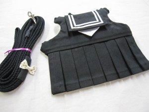 画像1: ハーネス☆GVセーラー服(冬服・黒)